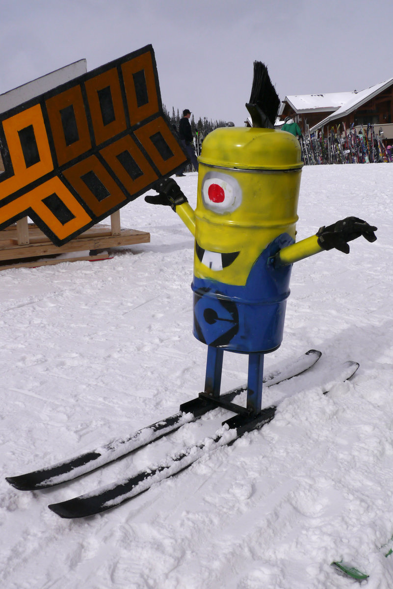 Minion Dummy ready for launch. Photo: Glenniss Indreland - © Creative dummies are launched off a snow jump to their demise.