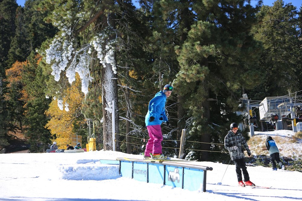 Hitting the first rails of the year at Mountain High - © Mountain High