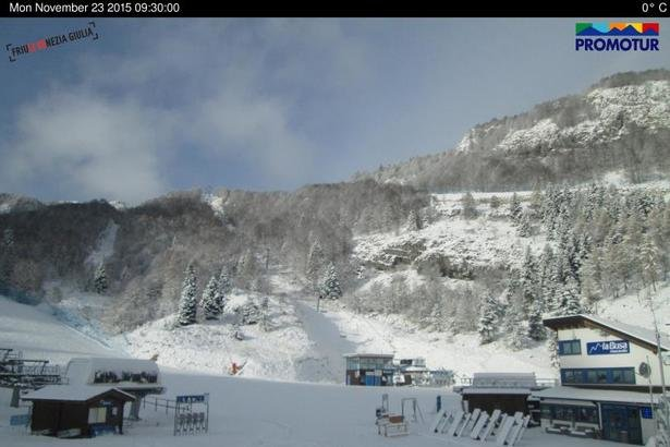 Piancavallo, neve fresca 23.11.15 - © Piancavallo webcam