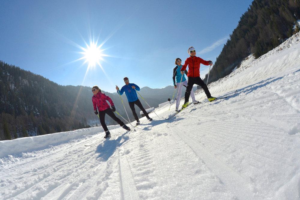 Ski de fond sur le domaine nordique du Grand Bornand - © David Machet / Les Aravis