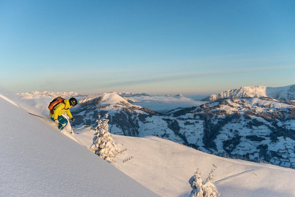 Traumpanorama im Freeride-Hotspot Westendorf - © SkiWelt Wilder Kaiser – Tim Marcour