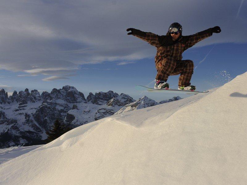 Skiarea Paganella, Snowboard - © Visitdolomitipaganella.it
