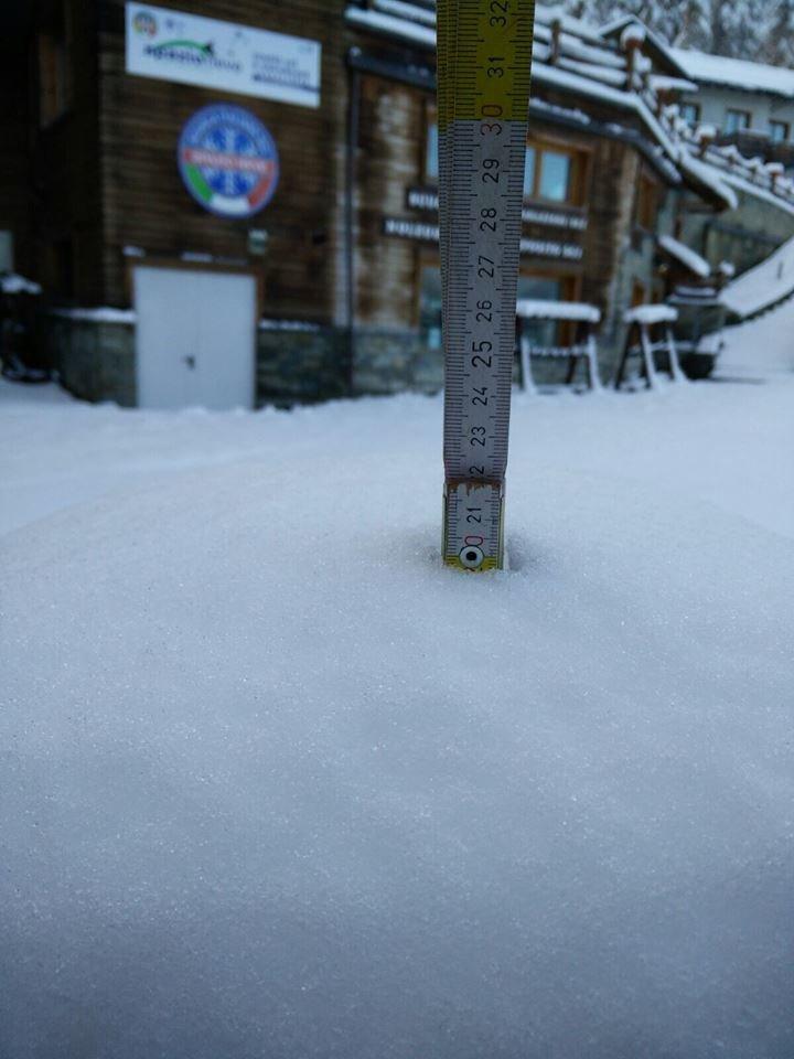 Bardonecchia, neve fresca 29.10.15 - © Bardonecchia Ski Facebook