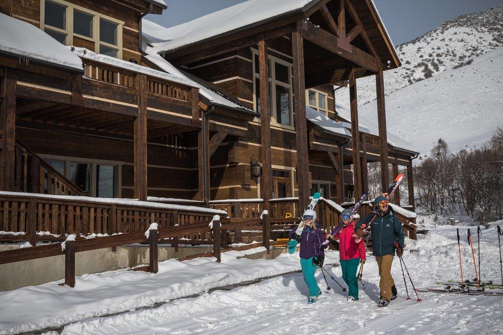 Grand Lodge anchors Cherry Peak ski area. - © Cherry Peak