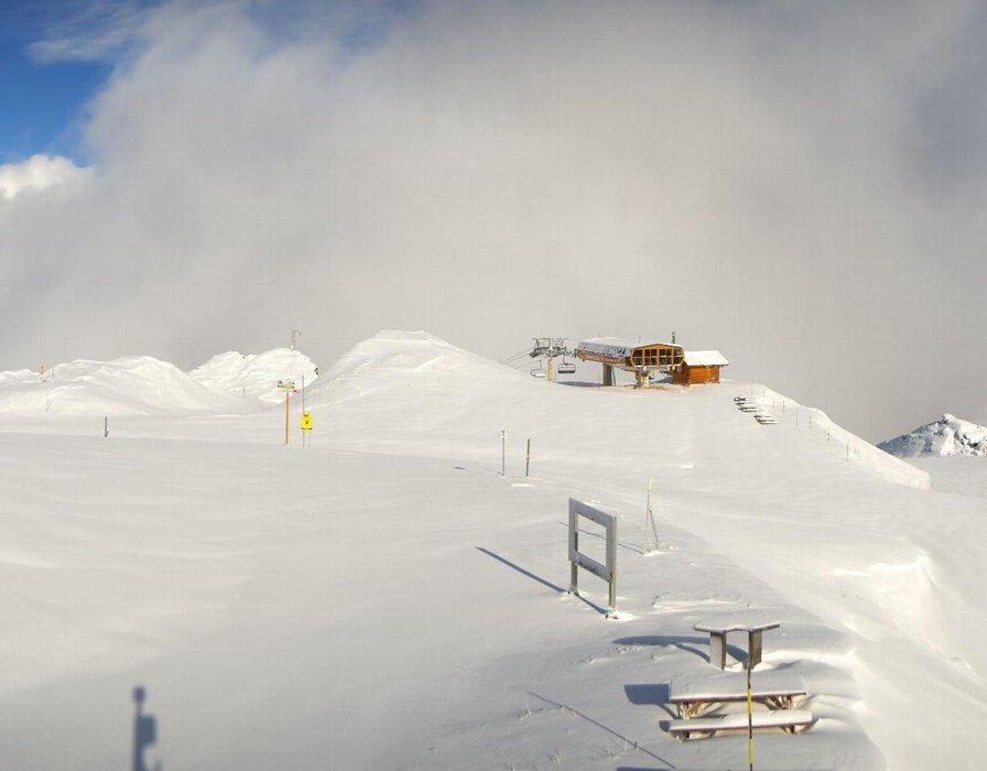 Courte accalmie avat le retour des chutes de neige dès cet après midi à Courchevel
