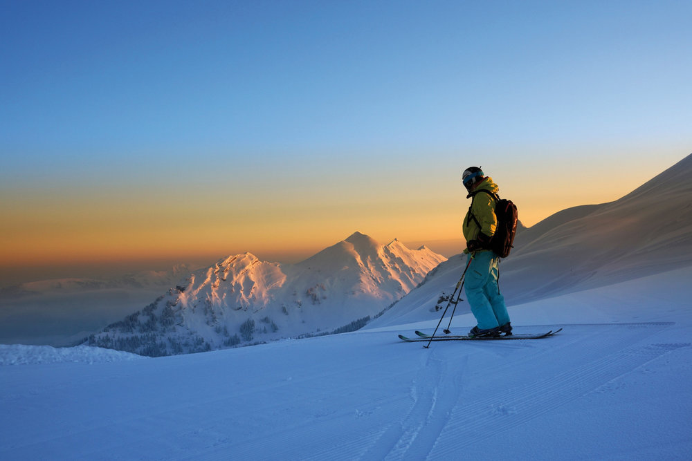 Skifahrer im Skigebiet Mellau/Damüls - © Ludwig Berchtold /Vorarlberg Tourismus