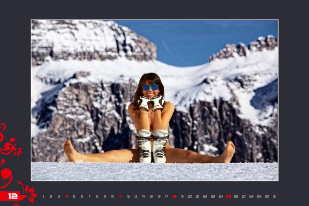 Kalendár lyžiarskych inštruktoriek z Val Gardena: December 2016 - © Scuola Sci Selva http://www.scuolasciselva.com - Robert Perathoner ski instructor & photographer - www.foto-prodigit.com