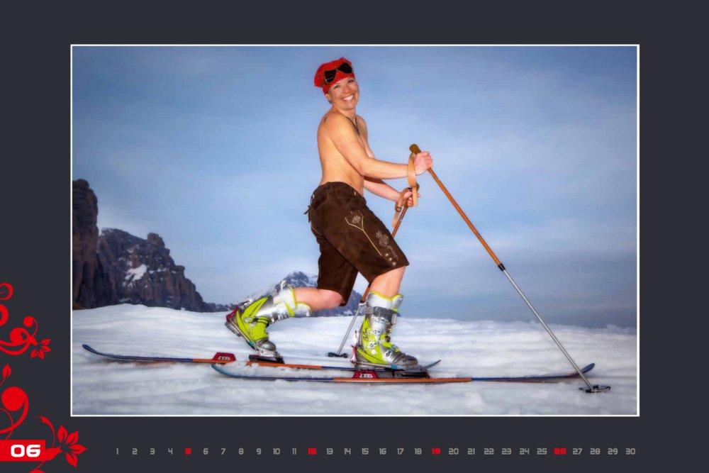 Kalendár lyžiarskych inštruktoriek z Val Gardena: Jun 2016 - © Scuola Sci Selva http://www.scuolasciselva.com - Robert Perathoner ski instructor & photographer - www.foto-prodigit.com
