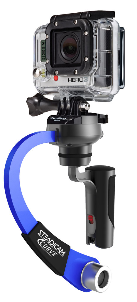 Steadicam Curve: $39.95 Take the vomit cam factor out of your sweet ski vids and add back some production value with this lightweight GoPro accessory that's designed to smooth out your footage by isolating handshake and vibration.