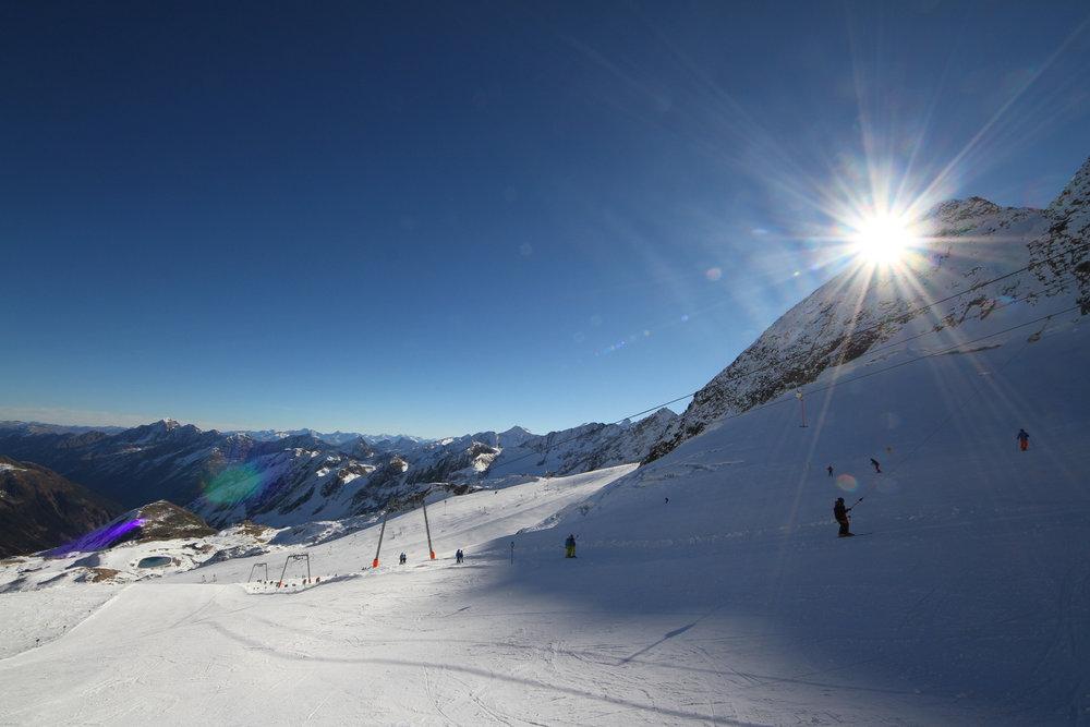 Daunscharte und Abfahrt Nr. 21 am Stubaier Gletscher - © Skiinfo