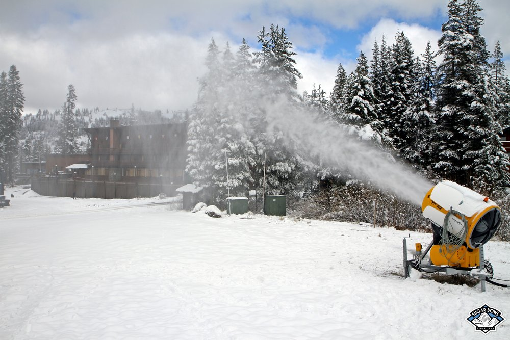 Snowmaking aims to help Sugar Bowl open 1,500 vertical for opening day in 2015. - © Sugar Bowl Resort