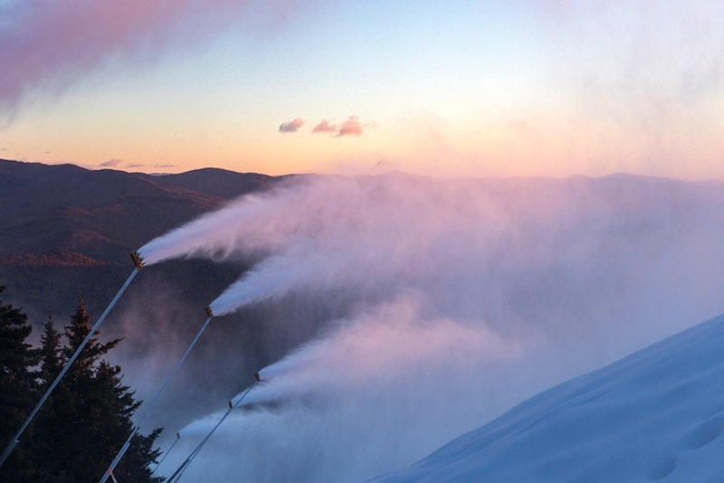 Snow making in full force - © Sunday River