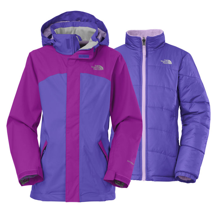 The North Face Girls' Abbit Triclimate Jacket: $199 The perfect accompaniment to a season ski pass, this versatile 4-in-1 winter jacket pairs a waterproof, fully featured shell with a removable insulated jacket that's also reversible. She can zip both jackets together for extra warmth on the hill, or remove the insulated liner for spring skiing conditions. One side of the liner jacket features a water-repellent finish to shed light moisture.