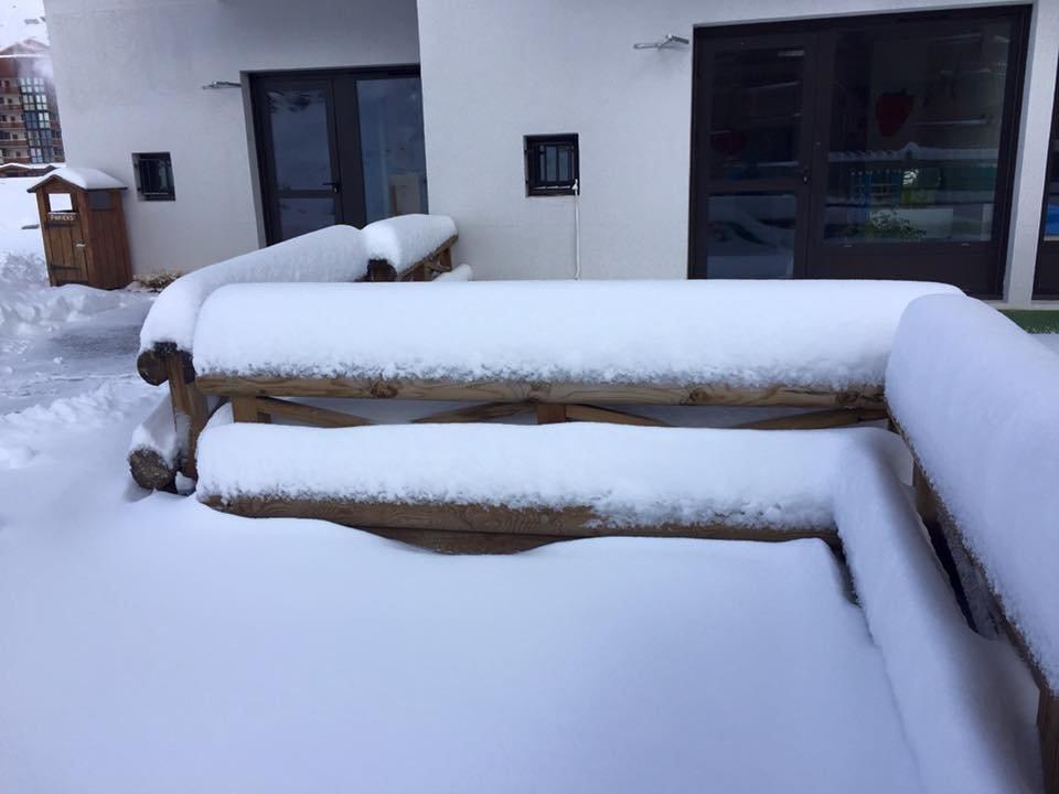 Plus de 30 cm de neige fraîche tombée à Val Thorens, de très bon augure pour l'ouverture du domaine skiable dès le week-end prochain - © Val Thorens