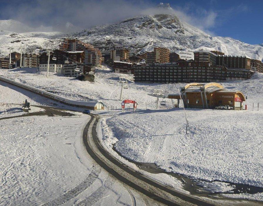 Val Thorens sous la neige en ce 29 octobre 2015