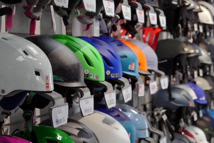 Wide selection of helmets at Edge & Wax - © Edge & Wax