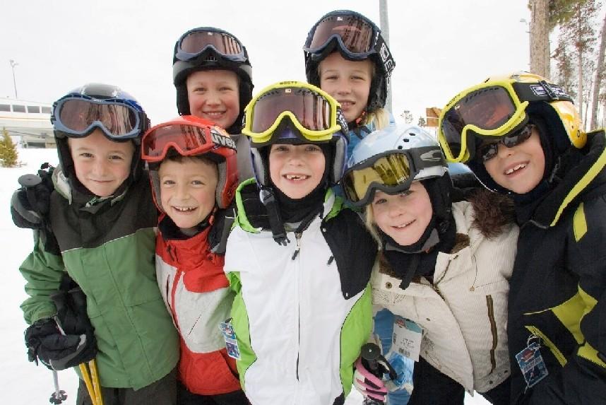 Kids at Ski Granby Ranch, CO.