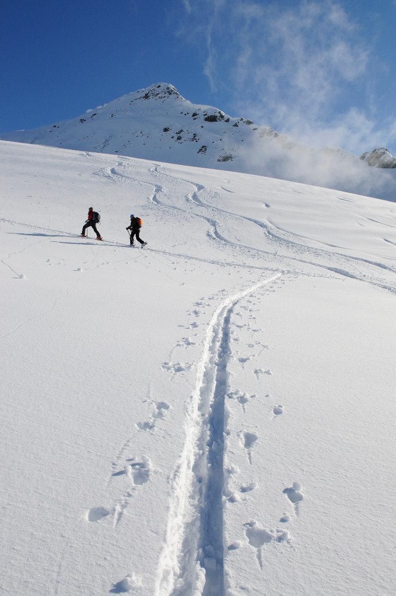 Entspannter Anstieg in Richtung Brechhorn-Gipfel - © Nobert Eisele-Hein