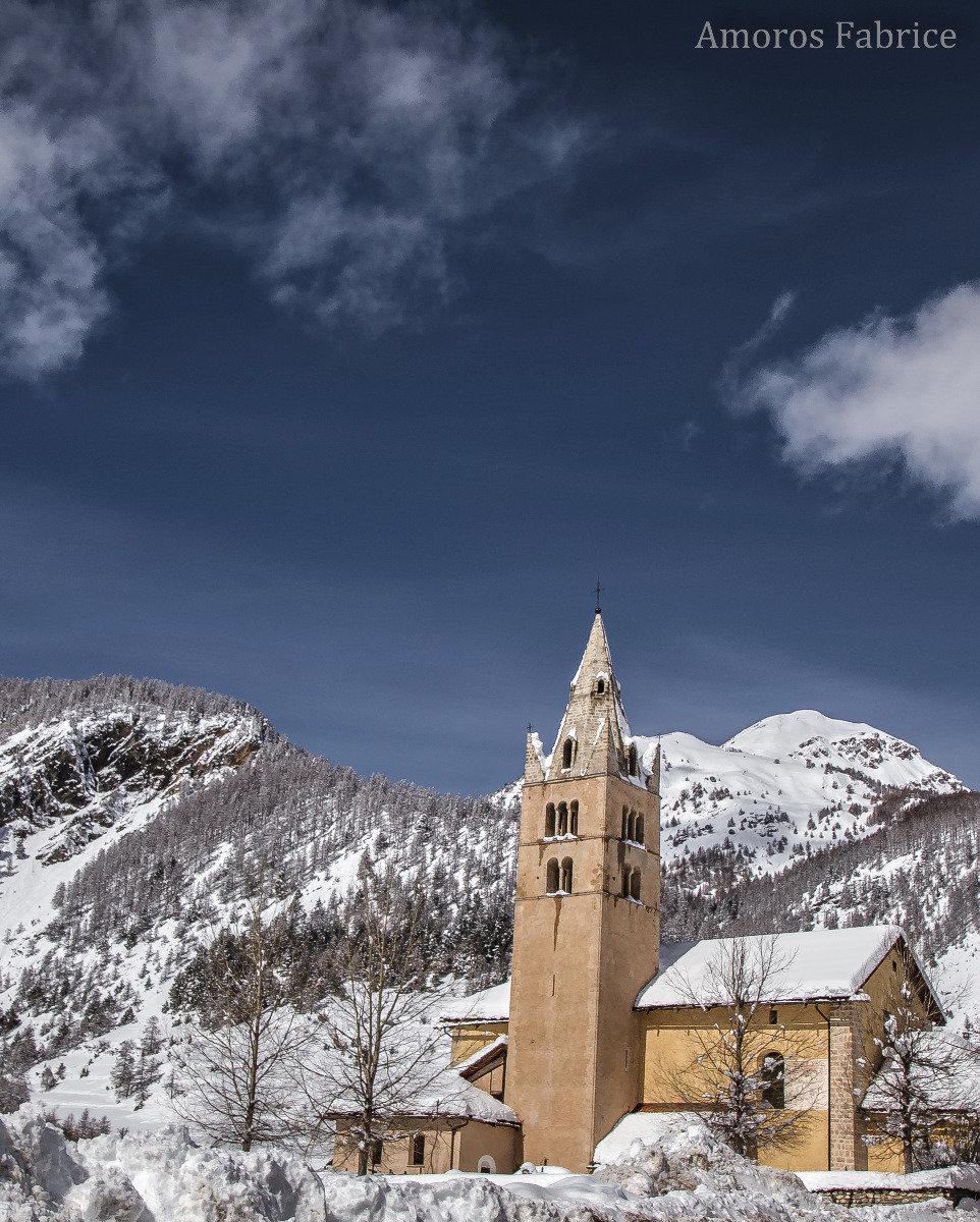 Arvieux et son clocher... - © F. Amoros