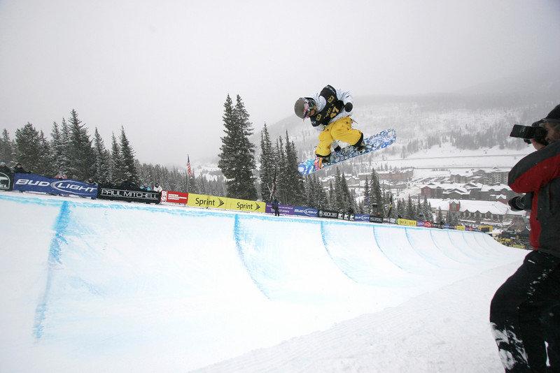 Kaitlyn Farrington at Copper, CO US Snowboarding Grand Prix .