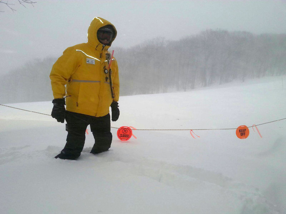 Knee-deep powder at Wintergreen. - ©Wintergreen Resort