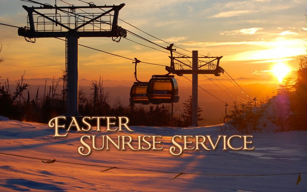 Ride the gondola to our 7am service! - © Join the Gore Region community for this annual tradition, a non-denominational service at the summit of Bear Mountain.