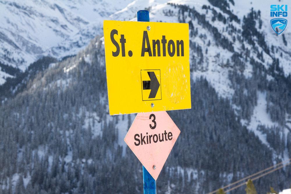 Die Skiroute 3 führt von der Bergstation der Galzigbahn nach St. Anton - © Skiinfo