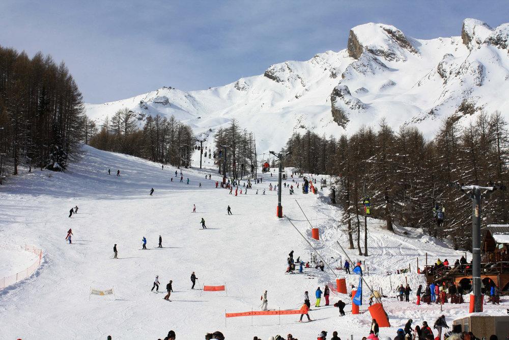 Au départ des pistes de ski de Val d'Allos