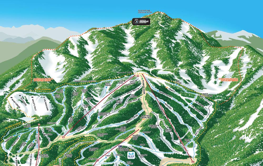 Snowcat area on Ellis Peak at Homewood Mountain Resort. - ©Homewood Mountain Resort