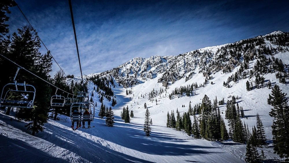 Bridger Bowl's ridge terrain looms in the distance. Got your transceiver? - ©Eric Slayman