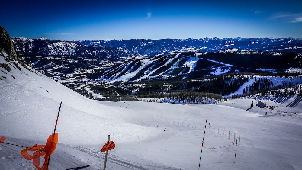 Warm up at Big Sky with a few hot laps down their many endless groomers. - © Eric Slayman