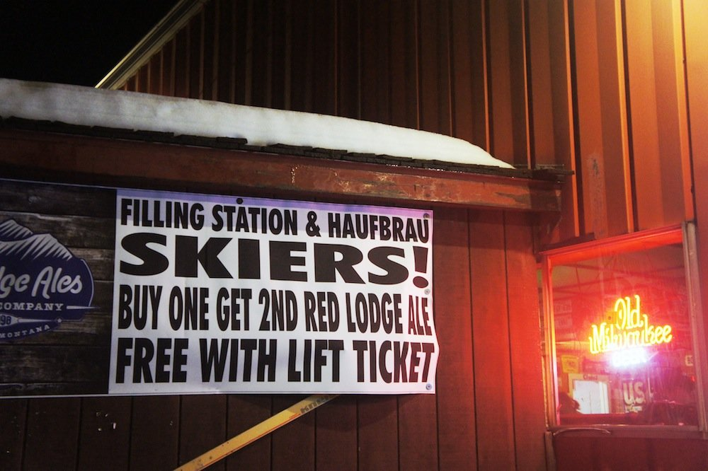 The Filling Station is an easy choice for après with attractive specials like this one.  - © James Robles