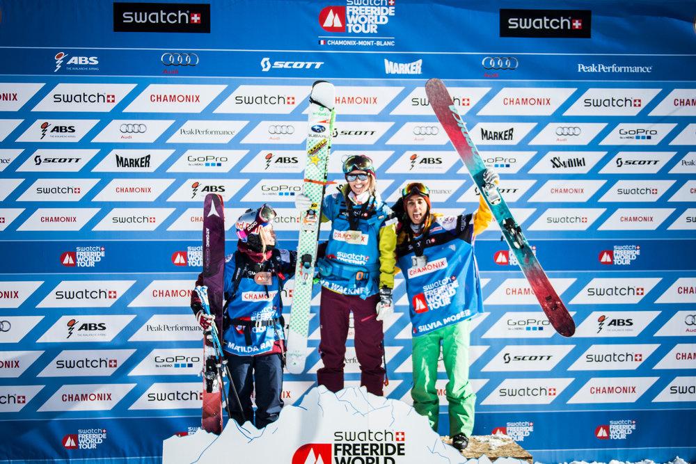 Siegerehrung Ski Damen - © www.FreerideWorldTour.com | D. Daher