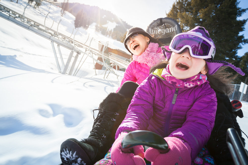Snow King's Cowboy Coaster gives thrills to riders. - © Snow King Mountain