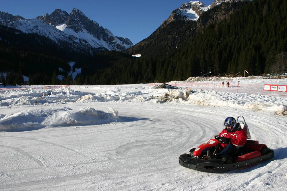 An ice karter at San Martino di Castrozza, ITA.