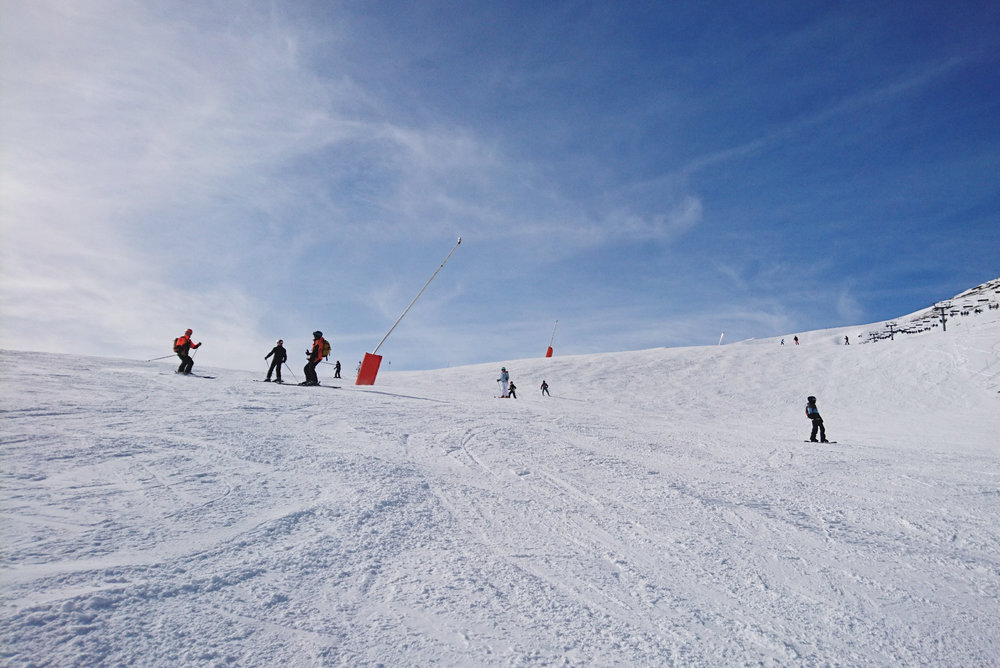 Sur le domaine skiable du Grand Tourmalet - © Office de tourisme Grand Tourmalet Pic du Midi