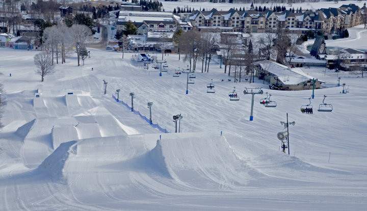 North McLouth Terrain Park at Boyne Mountain Resort in Michigan. - © Boyne Mountain Resort