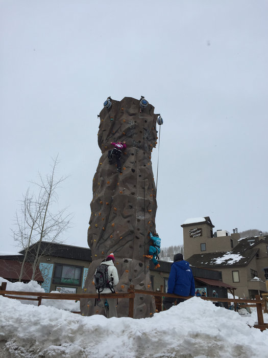 Adventure park climbing tower at Crested Butte. - © Krista Crabtree