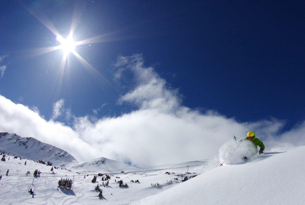 Loveland Ski Area wakes up to the best of both worlds. - © Dustin Schaefer