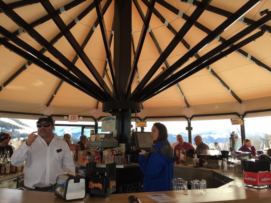 The new umbrella, ella, ella bar at Crested Butte. - © Krista Crabtree