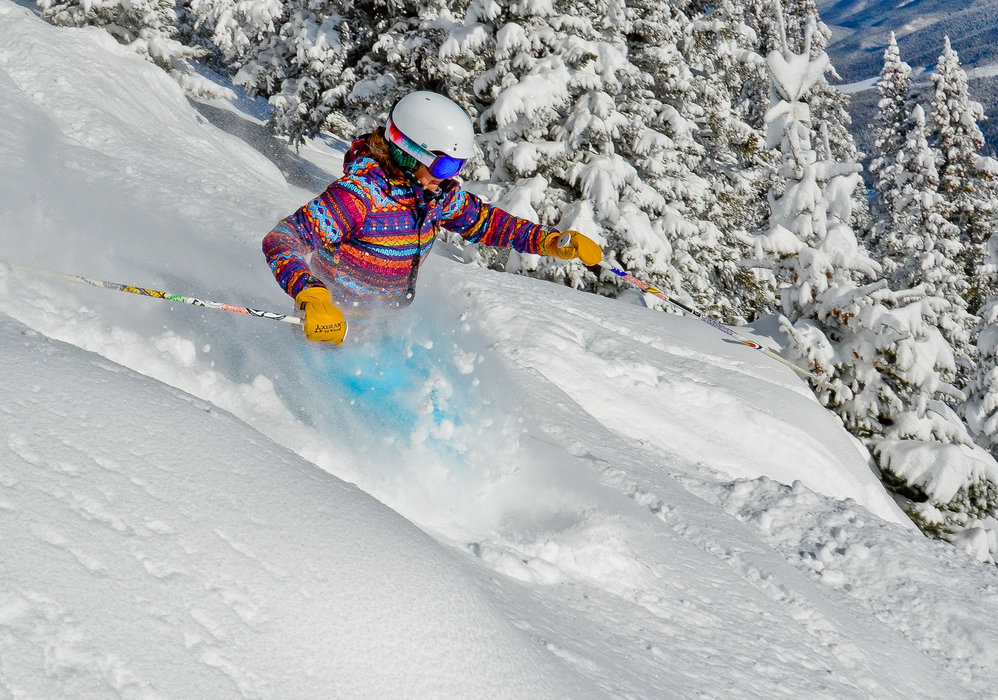 Dropping into powder at Winter Park. - © Eric Wheeler/Winter Park