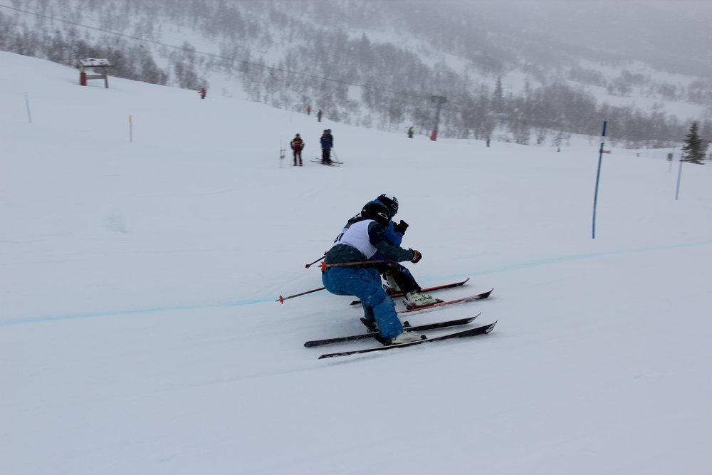 På langfredag var det skicross-konkurranse.  - © Siri Lund