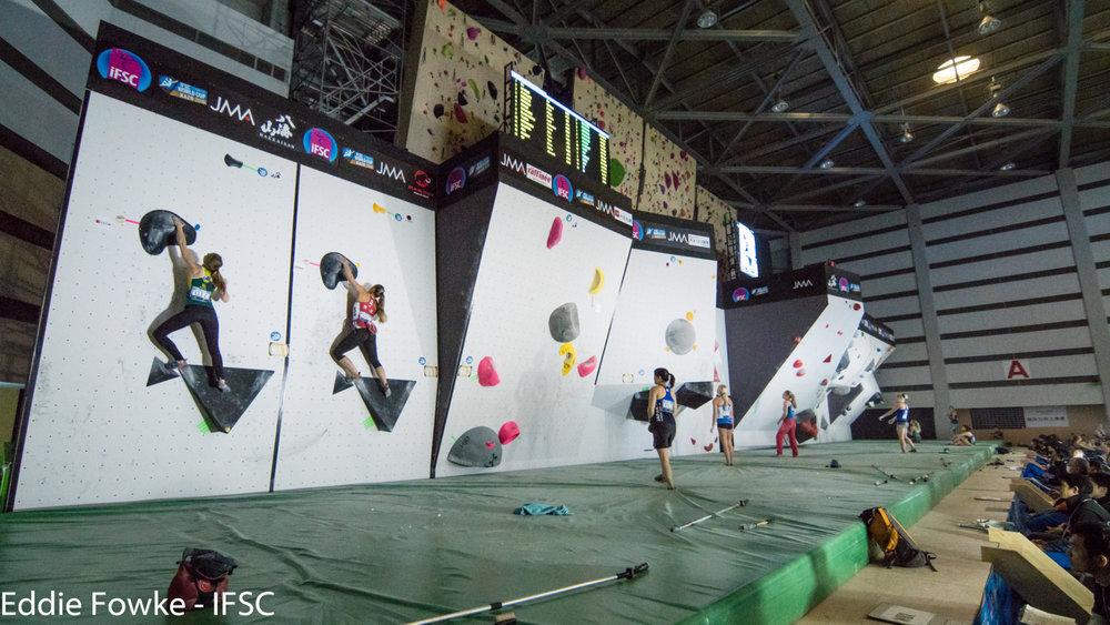 IFSC Boulder-Weltcup 2016 in Kazo (JAP) - ©IFSC / Eddie Fowke