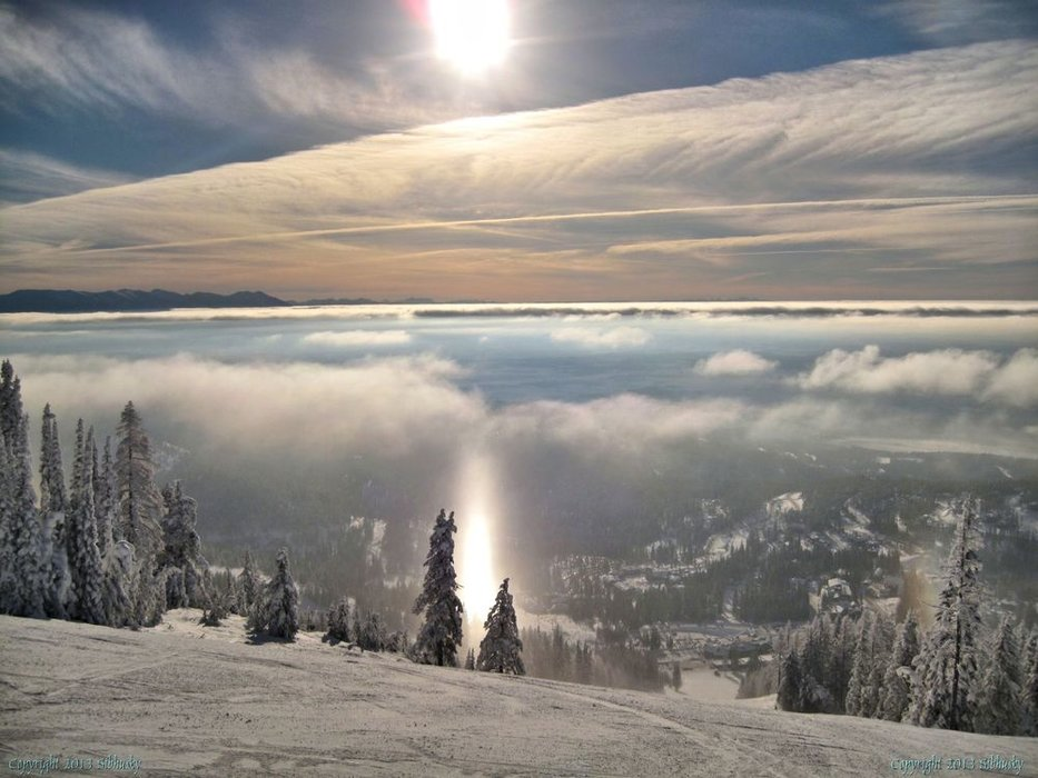 December winner: Ed's Run, Whitefish, during inversion. January 3, 2013. - © sibhusky