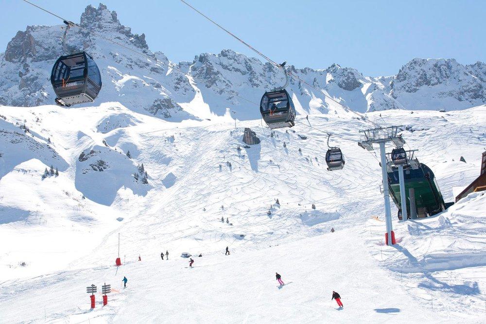 En route pour les pistes de ski de Valmorel - © Office de Tourisme de Valmorel
