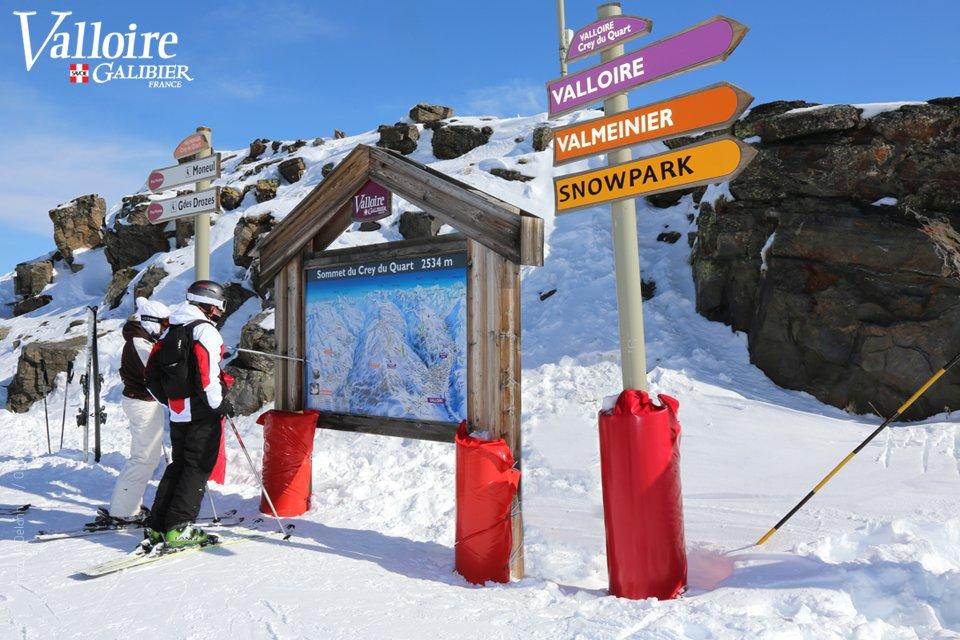 Sommet du Crey du Quart, sur le domaine skiable de Valloire - © Office de Tourisme de Valloire