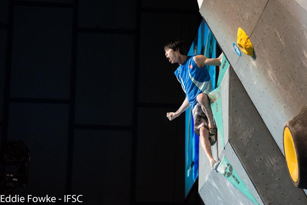 Jongwon Chon (KOR) holte sich den Sieg - ©IFSC | The Circuit Climbing | Eddie Fowke