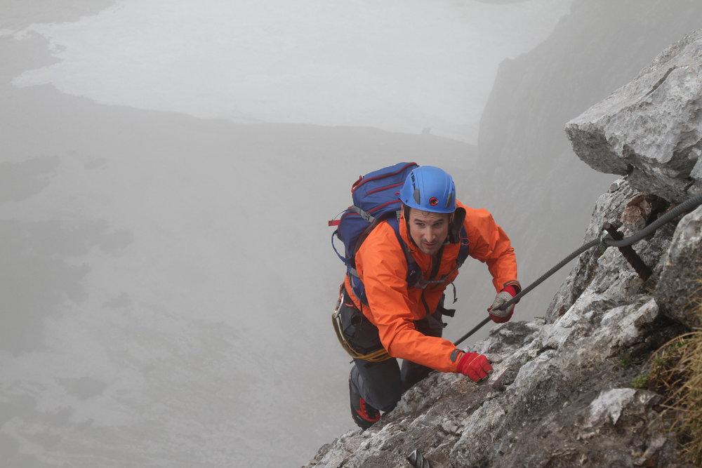 Nicht das beste Wetter, um den Anna-Klettersteig zu begehen - ©Bergleben.de