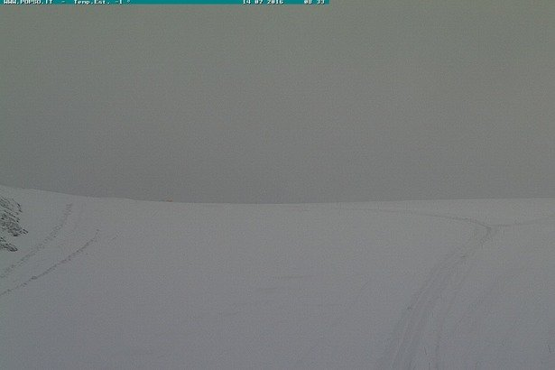 Čerstvý sneh v Passo Stelvio 14.7.2016