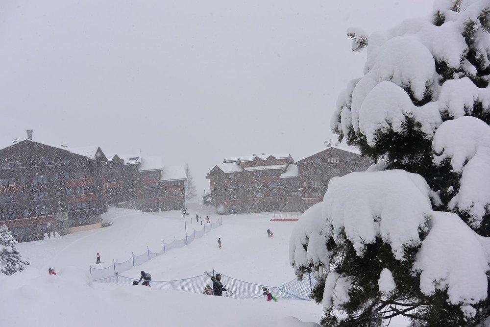 Jour de neige sur Valmorel - © OT de Valmorel